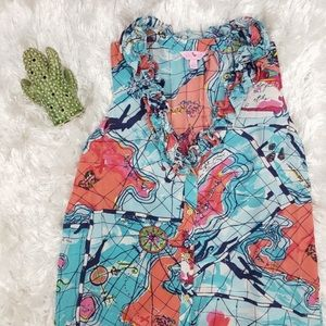 Lilly Pulitzer X Marks the Spot Silk Tank Top XS